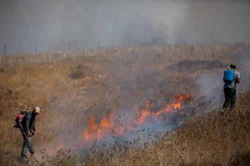 пожары на границе с Газой