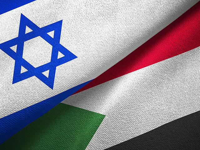 флаги Судана и Израиля