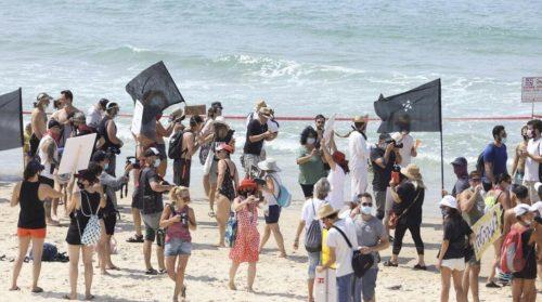 митинг на пляже