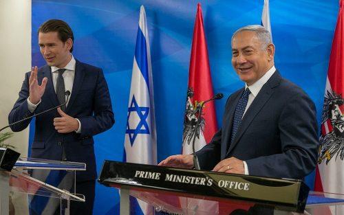Курц и Нетаньягу в Израиле