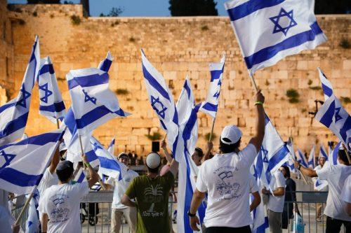 марш с флагами в Израиле
