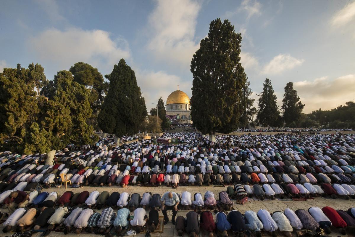 молитва мусульман на Храмовой горе
