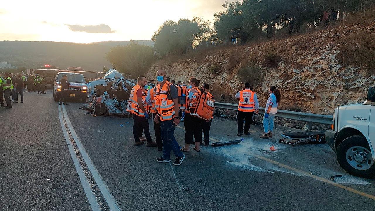 авария на трассе 89 в Израиле